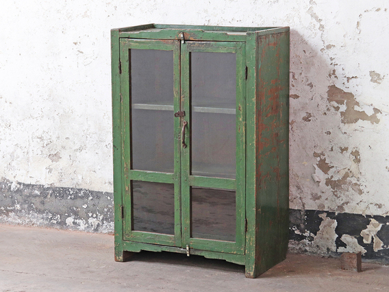 View our  Vintage Green Display Cabinet from the   collection