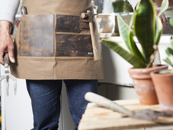 Half Leather and Canvas Apron