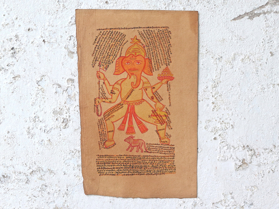 Hand-painted Ganesh Wall Art