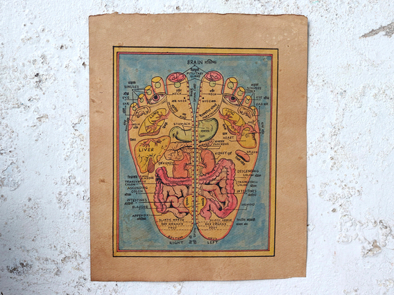 View our  Hand-Painted Wall Art - Reflexology Feet from the   collection