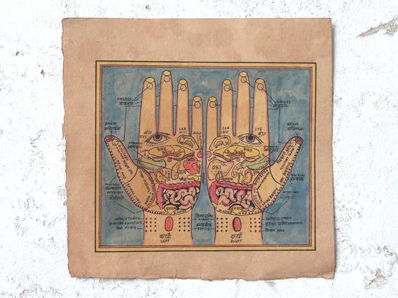 Hand-Painted Wall Art - Reflexology Hands