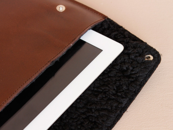 View our  iPad Leather Cover - Black Fleece from the  Work Gifts collection
