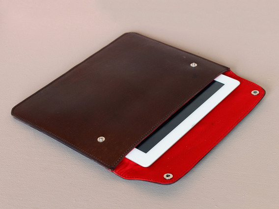 View our  iPad Leather Cover - Red Lining from the  Travel Accessories collection