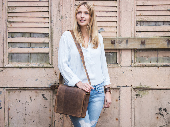 View our  iPad Leather Messenger Bag 11 Inch from the  Leather Satchels & Bags collection