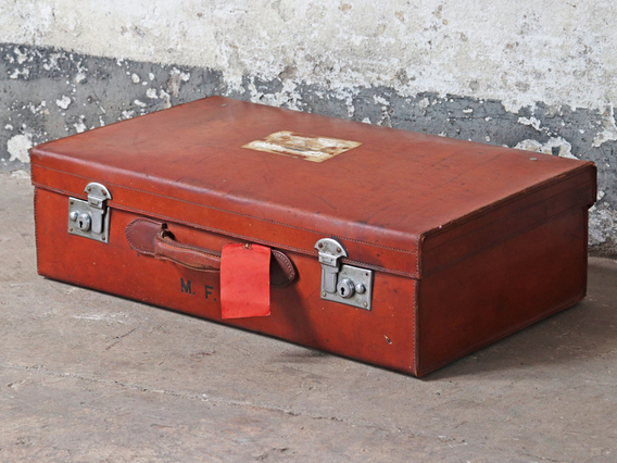 View our  Vintage Leather Suitcase from the  Hallway collection