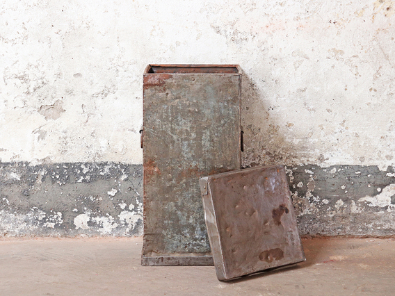 View our  Industrial Metal Storage Bin from the  Vintage Suitcases collection