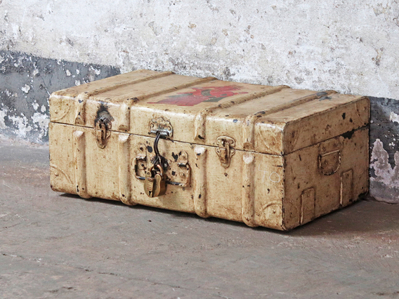 View our  Vintage Metal Storage Trunk from the   collection