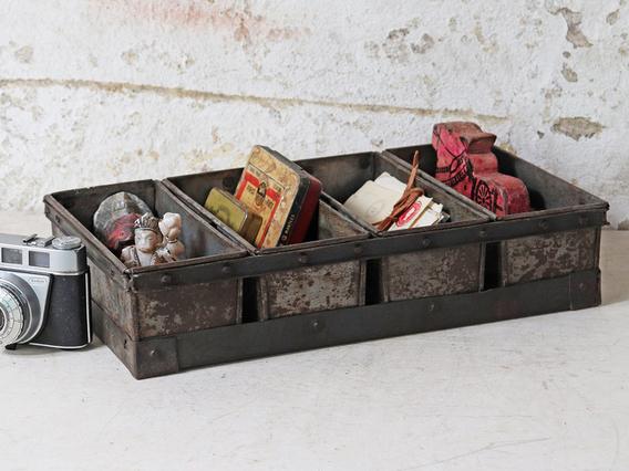 Vintage Metal Bread Tins - 4 Compartments