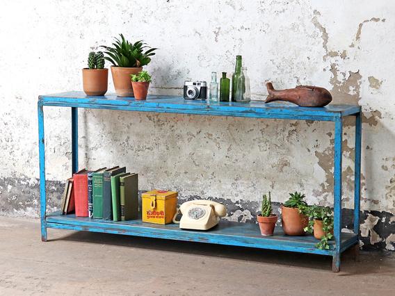 Blue Vintage Console Table
