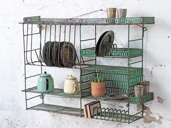 View our  Green Metal Shelving Rack from the  Kitchen  collection