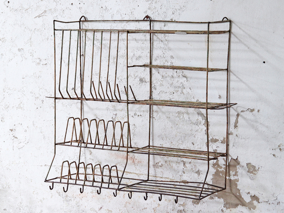 View our  Vintage Metal Kitchen Wall Rack from the   collection