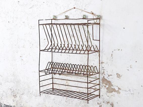 Vintage Metal Storage Rack