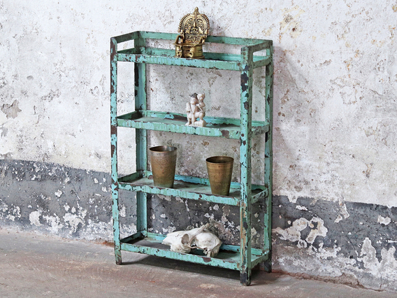 View our  Green Metal Shelf from the   collection