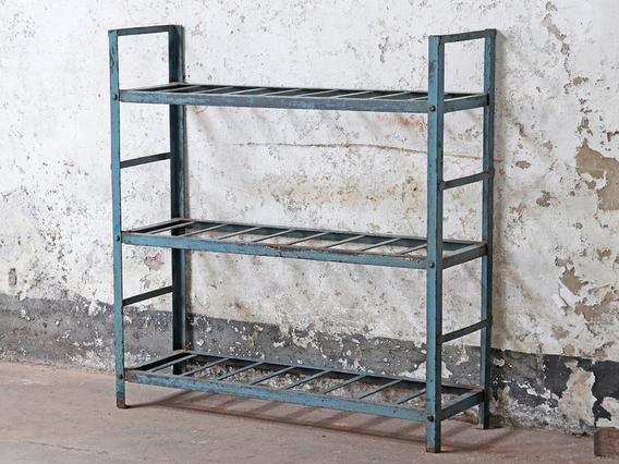 View our  Rustic Blue Shelving Rack from the  Vintage Shelving collection