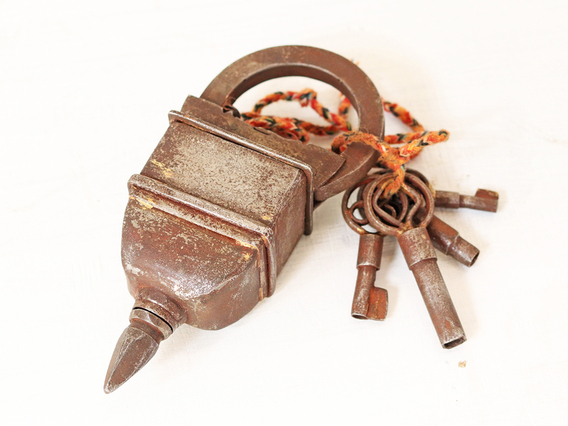 View our  4 Key Antique Style Padlock from the  Furniture and Interiors collection