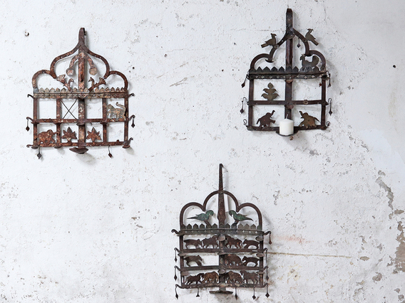 Old Metal Wall Hanging Diya Toran