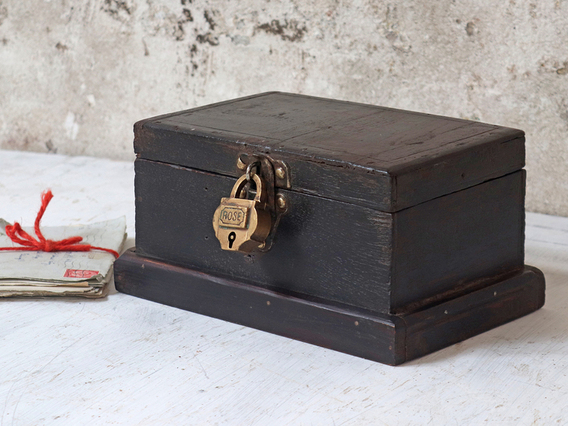 View our  Jewellery Box from the  Old Wooden Chests, Trunks & Boxes collection