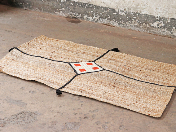 View our  Medium Handwoven Jute Rug - Diamond from the   collection