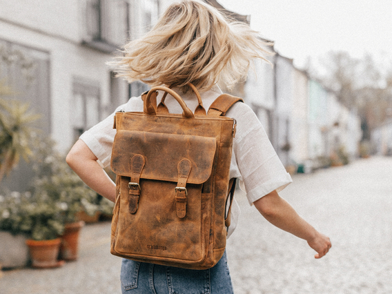 View our Women Laptop Backpack For Women - Odessey from the Women Leather Satchels & Bags collection