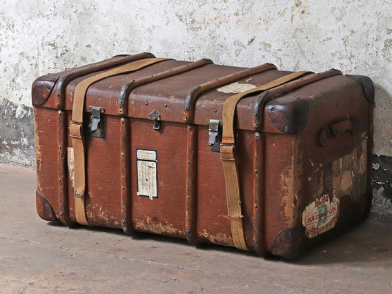 View our  Large Steamer Trunk from the  Hallway collection