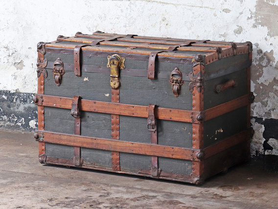 View our  Large Vintage Trunk from the  Hallway collection