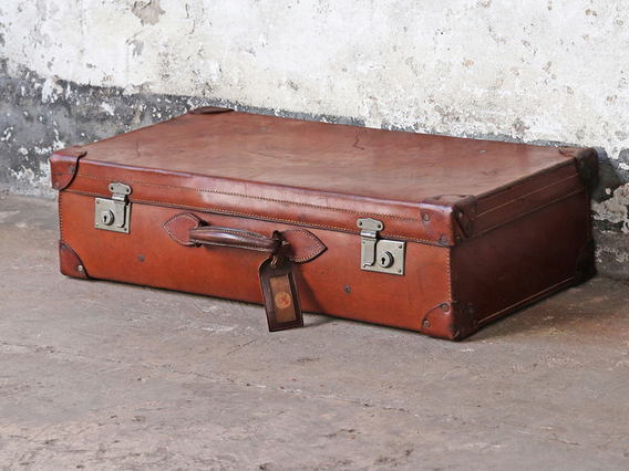 View our  Large Leather Suitcase from the   collection