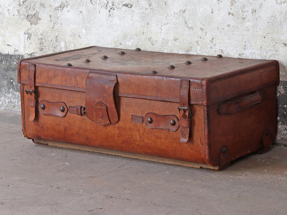 View our  Leather Travel Trunk from the  Sold collection
