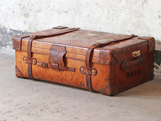 Large Leather Trunk