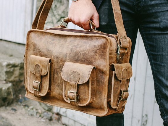 View our Men Large Leather Vintage Flight Bag from the Men  collection