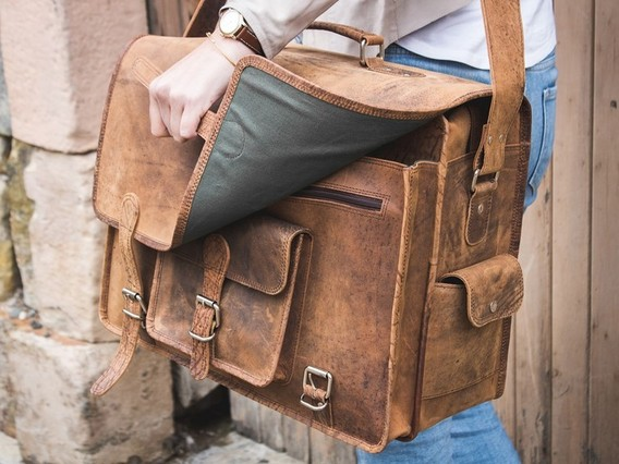 View our Women Large Overlander Leather Bag 18 Inch from the Women Leather Satchels & Bags collection
