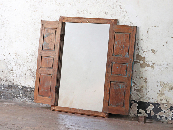 View our  Large Rustic Shuttered Mirror from the   collection