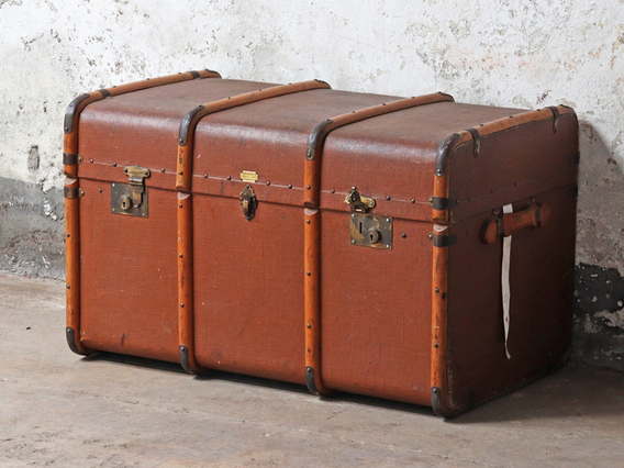 View our  Large Steamer Trunk from the  Sold collection