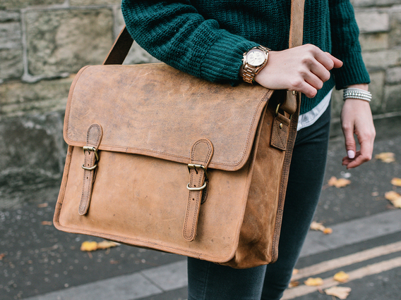 View our Women Large Vintage Leather Satchel 16 Inch from the Women Leather Satchels & Bags collection