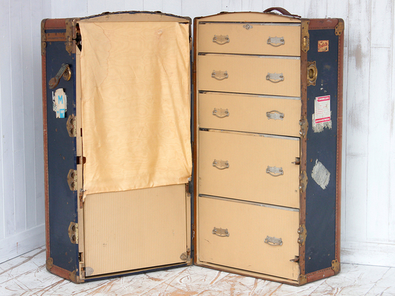 View our  Wardrobe Trunk from the  Old Travel Trunks collection