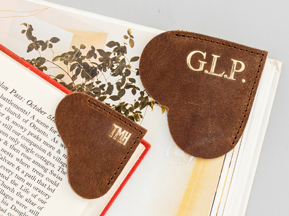 Leather Bookmark - Large