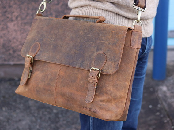 View our Men The Hamilton Leather Briefcase for Men from the Men Laptop Bags collection