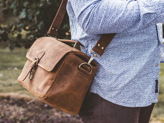 View our  Leather Camera Bag from the  Landing Pages collection