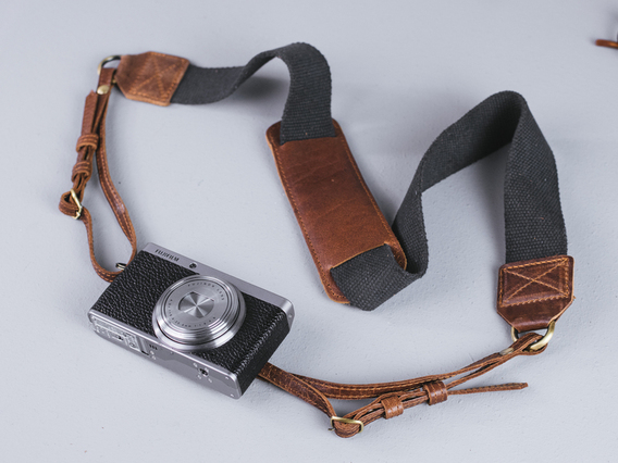 View our  Canvas and Leather Camera Strap from the   collection