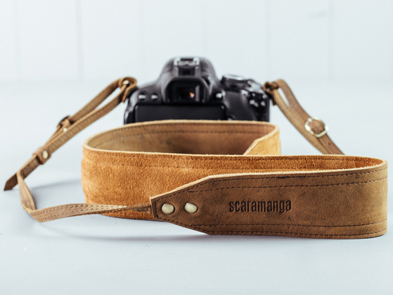 View our  Leather Camera Strap with Padding from the   collection