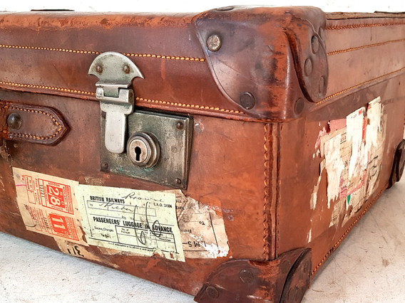 Vintage Leather Suitcase by Gordon House