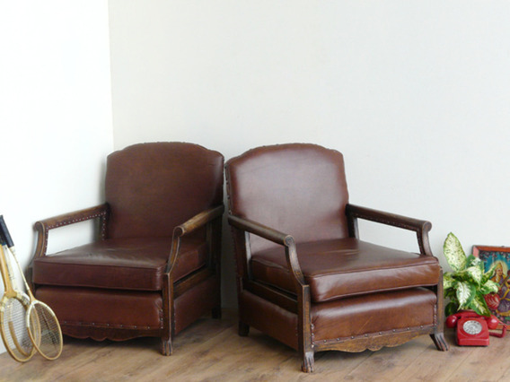 View our  Antique Leather Armchairs from the   collection