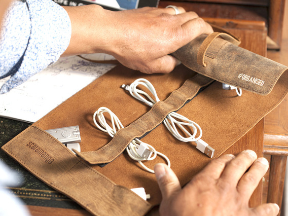 View our  Leather Cord Organiser from the   collection