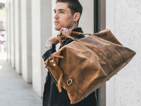View our Men Leather Duffle Bag from the Men  collection
