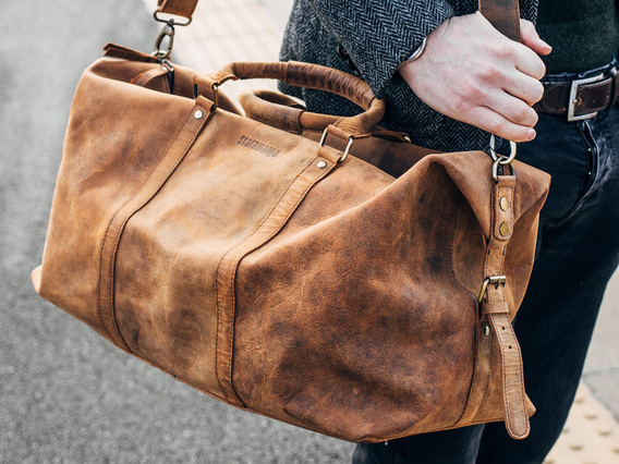 View our Men Leather Duffle Bag from the Men Leather Weekend Bags collection
