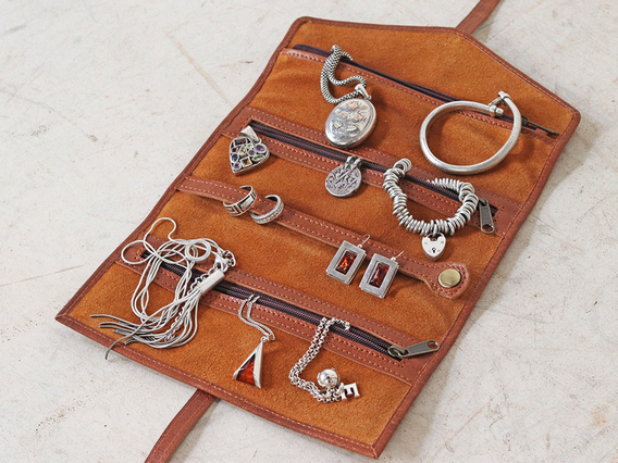 Leather Jewellery Roll