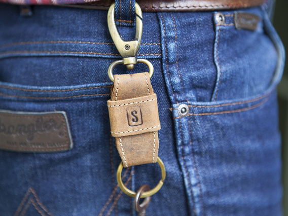 View our  Leather Keyring Clip from the  Gifts For Men collection