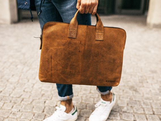View our  Leather Laptop Bag from the  Gifts For Men collection