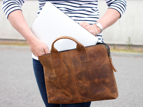 "View our  Leather Laptop Bag 13"" from the   collection"