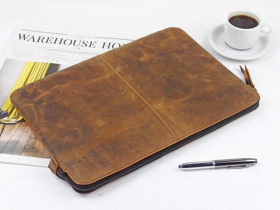 "View our  Leather Laptop Case 13"" from the  Work Gifts collection"