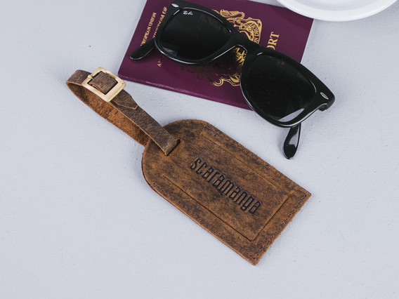 View our  Leather Luggage Tag With Buckle from the   collection